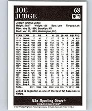 1991 Conlon Collection #68 Joe Judge NM Baseball MLB Senators