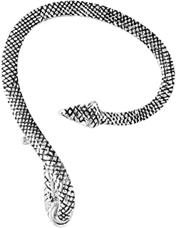Snake Ear Cuff Climber Crawler Wrap Earrings for Women Silvertone Oxidized Jewelry Gift
