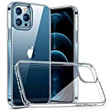 Naviurway iPhone 12 Pro Max 用 6.7インチ ケース 2020 新型 ガラスケース 強化ガラス+TPUバンパー 【 硬度9H背面 薄型 全透明 黄変防止 】 耐衝撃 Qi充電対応 衝撃吸収保護ケース クリア