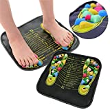 Chenmioo Foot Massage Mat for Feet, Stone Foot Leg Pain Relieve Relief Walk Massager Mat for Acupressure Relaxes (Multicolor)