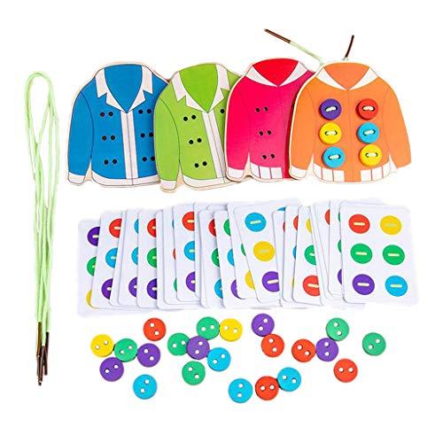 Nobranded Preschool Kids draad veters kleding speelgoed leren snap kant & stropdas te knopen