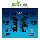 Ecoshirt 8B-2IJN-G51E Pegatinas Sticker Fork Fox 32 Am62 Aufkleber Decals Autocollants Adesivi Forcela Gabel Fourche, Negro
