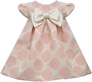 Bonnie Jean Baby Dress Brocade Dot Bow Dress