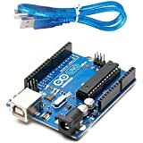 Microcontroller ATmega328P .6. Operating Voltage : 5V Digital I/O Pins 14 (of which 6 provide PWM output) PWM Digital I/O Pins .6 Analog Input Pins, 6 Flash Memory 32 KB (ATmega328P) of which 0.5 KB used by bootloader