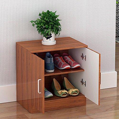 Chaussure Shoebox Shoe Rack Type de Plaque Simple Modern Storage Entrée de Salon Cabinet de Multifonctions (Couleur : Deep Wood Color)