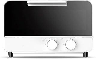 UZIQAQ Mini Horno EléCtrico De 12 litros con Doble Placa Calefactora, Funciones De CoccióN MúLtiples Y Parrilla, Control De Temperatura Ajustable, Temporizador - 800w