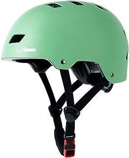 کلاه ایمنی Skateboard Apusale ، کلاه ایمنی دوچرخه بزرگسالان کودکان و نوجوانان ، برای رولر اسکیت دوچرخه سواری اسکوتر ، 3 اندازه قابل تنظیم برای زنان مردان کودک ، دارای گواهینامه CPSC