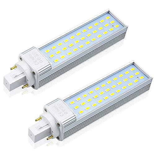 Bonlux Lampadina LED G24 13W Lampada PLC G24 a 2 pin Bianco Caldo 3000K Sostituisci lampada fluorescente compatta 18W 26W 4 pin Lampada a risparmio energetico CFL Rimuovi/Baypass (2 Pezzi)