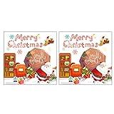 STOBOK 2 Set Pegatinas de Navidad Manualidades Pegatinas de Vacaciones álbum de Recortes para álbum de Fotos Bolsas de golosinas fabricación de Tarjetas Suministros para Fiestas (Bola de Navidad)