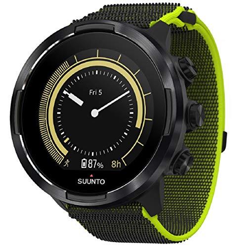 Suunto 9 Baro Reloj deportivo GPS con batería de larga duración y medición de la frecuencia cardiaca en la muñeca, Negro/Lima, SS050449000