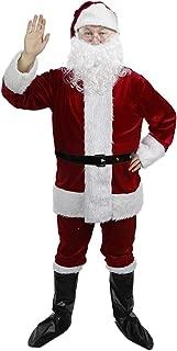 Christmas Santa Claus Costume Set Men Santa Costume Women Deluxe Santa Suits