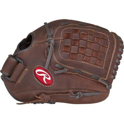 Rawlings Sporting Goods Player Preferred Gloves with Basket Web, Brown, Size 12, Left Hand