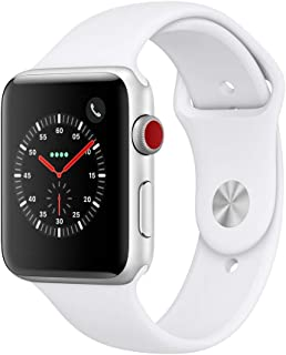 AppleWatch Series3 (GPS+Cellular, 42mm) - Silver Aluminium Case with White Sport Band