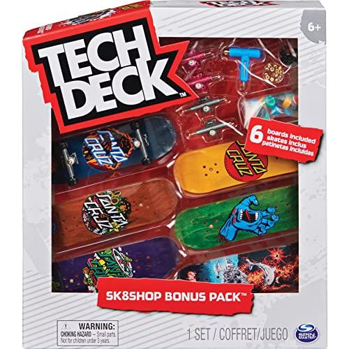 Sk8Shop Bonus Pack - Fingerboard-Set mit 6 authentischen Boards und Zubehör (Zufallsauswahl - Sortierung mit verschiedenen Produkten)
