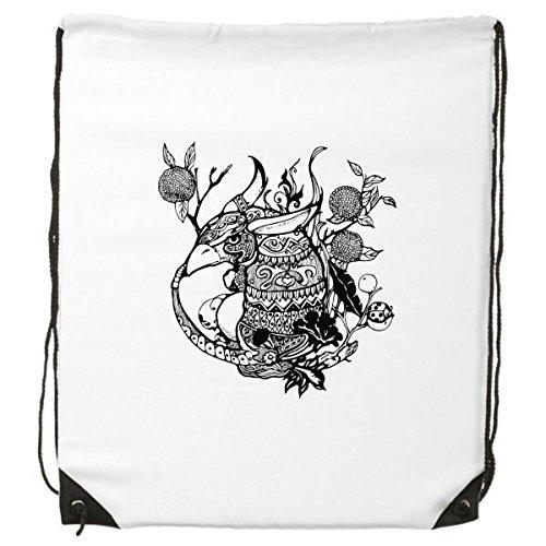 DIYthinker China Masterpiece Chino el clásico de montañas y ríos figura Armadillo línea dibujo cordón mochila lineas finas compras creativo bolso de mano hombro bolsa de poliéster ambiental