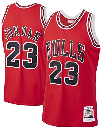 CXJ Camiseta De La NBA para Hombre, Michael Jordan # 23 Bulls Fan Jersey Camisetas De Uniforme De Baloncesto Camiseta Bordada Fina Ropa Deportiva Sin Mangas,L