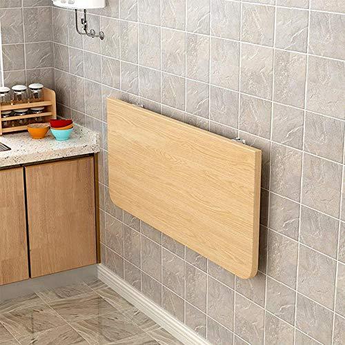 Home Escritorio plegable simple ahorro de espacio pequeño de madera montado en la pared Escritorio de pino plegable mesa de estudio de computadora banco de trabajo para cocina-B 24x14'-A_28x14'