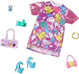 Barbie Storytelling Fashion Pack of Doll Clothes Inspired by Hello Kitty & Friends: Dress with Character Print & 6 Accessories Dolls, Gift for 3 to 8 Year Olds