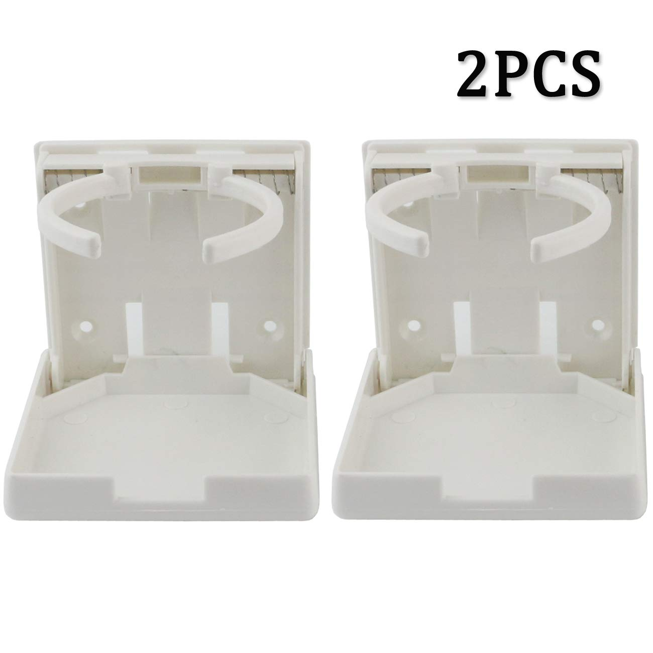 2 Pack Universal Adjustable Folding Drink Holder with Screws for Holding Mugs Adjustable Cup Holder for Boat//Car//Trucks//RVs//Vans//Home//Leisure Centre Large Drinks and Almost Any Size Bottle