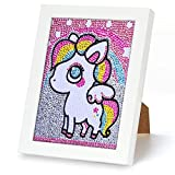Diamond Painting Unicornio, 5d Diy Punto de Cruz Diamante, Kit de Pintura de Diamantes, Puzzle Unicornio Niña, Manualidades Cuadros para Craft Decoración del Hogar Color Unicornio