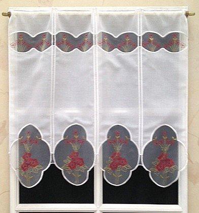 Rido&Co Brise Bise Etamine 57 cm Blanc Motif Fleurs