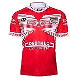 Maillot de rugby 2019 Japon Coupe du Monde Tonga Maillot de football en polyester Séchage rapide Respirant Convient pour les étudiants, les enfants et les adultes - Rouge - Medium