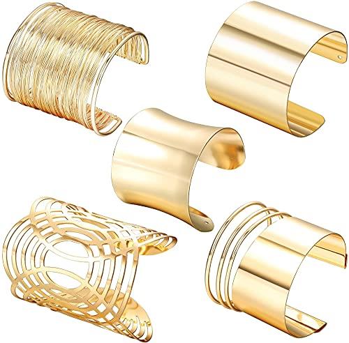 CASSIECA 5 Stücke Oberarm Armbänder Für Frauen Manschette Armband Einstellbare Boho Punk Oberarmreif Set Griechisches Armband