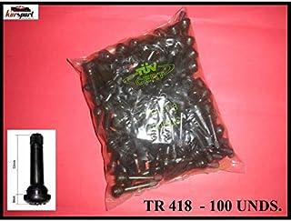 Kursport Válvulas TR418 para neumaticos (Bolsa de 100 Unidades). Especial para Llantas de Chapa/Acero, Utilidad en Coche. Furgoneta, furgon, Todoterreno 4X4.
