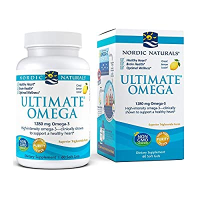 Nordic Naturals Ultimate Omega SoftGels - Concentrated Omega-3 Burpless Fish Oil Supplement with More DHA & EPA, Supports Heart Health, Brain Development and Overall Wellness*, Lemon Flavor