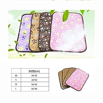 Matelas Tapis for Chien Four Seasons Tapis Universel for Chien Été Pet Cool Pad Golden Retriever Tapis de Sol Tapis de climatisation (Color : Purple, Size : M)
