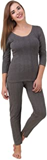 HAP Women's Cotton Quilted Thermal 3/4th Sleeves Top and Trouser/Female Thermal/Ladies Thermal Set