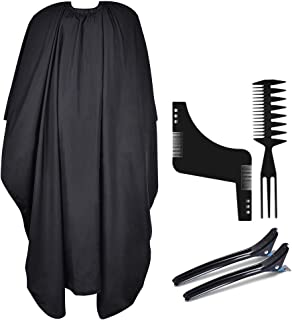 FaHaner Salon Cape Professional Waterproof Barber Cape with Adjustable Closure,165 X 145 cm Adults Haircut Cape with Hair ...