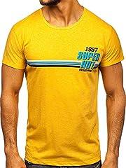 BOLF Hombre Camiseta de Manga Corta Escote Redondo Camiseta de Algodón Estilo Diario 3C3