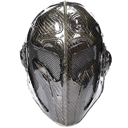 LLZK Maske Carbon-Faser-Kreuz König Filmrequisiten Halloween-Kostüm-Kugel Templar Maske, Maskerade Weihnachtsfest-Stab Kostüm Props (Farbe : Schwarz, Größe : 21.5 ×29cm)