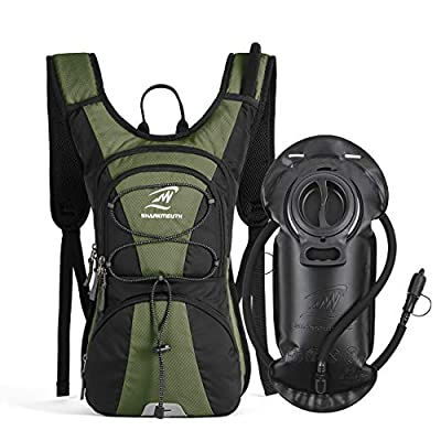 Hydration Pack Backpack Lightweight with 2.5L Leak-Proof Water Bladder, Keep Liquids Cool for Up to 4 Hours, Outdoor Daypack for Cycling, Hiking, Running, Climbing, Trips and Outdoor Activities