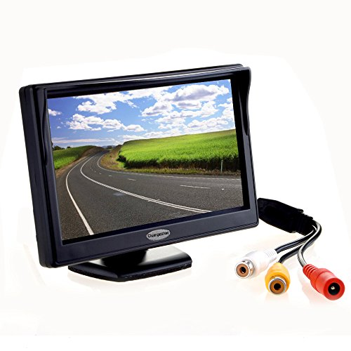 "5"" Inch Digital TFT LCD Color Car Rear View Monitor Screen for Parking Backup Camera,Support All The car with 12V/24V Power,High Definition 800(RGB) X480 Pixel backup Cameras Electronics Features Vehicle"