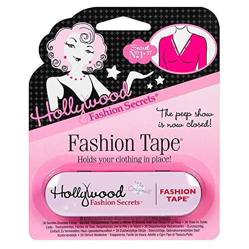 Hollywood Fashion Secrets Medical Quality Double-Stick Fashion Tape, 36 strips, Tin, 1-Pack
