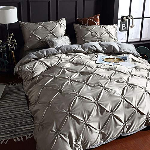 Washed Silk, Three-Piece Set, Solid Color Pillowcase Quilt Cover, Bedding THANGY