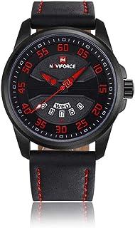 Naviforce新高級ブランドメンズ腕時計革アナログクォーツ時計メンズ日付防水スポーツ時計メンズ腕時計ファッション腕時計