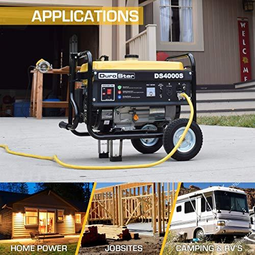 DuroStar DS4000S 4000 Watt Portable Recoil Start Gas Fuel Generator