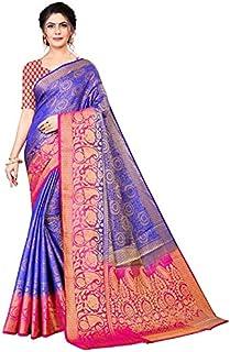 Neerav Exports Banarasi Kanjivaram Soft Silk With Rich Pallu Traditional Jacquard Saree (Purple)