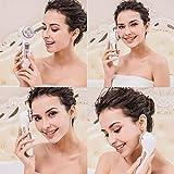 Facial Aparato Radiofrecuencia, Aparato Facial Ultrasonido, 5 Modos de Terapia de luz LED, Antiarrugas, Anti-envejecimiento, Rejuvenecimiento, Limpieza Profunda, Cuidado Facial, Buen Regalo de Damas