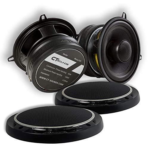 CT Sounds 5.25インチ カーオーディオ同軸スピーカーセット - ペア、フルレンジ、簡単マウント、4オーム1.4...