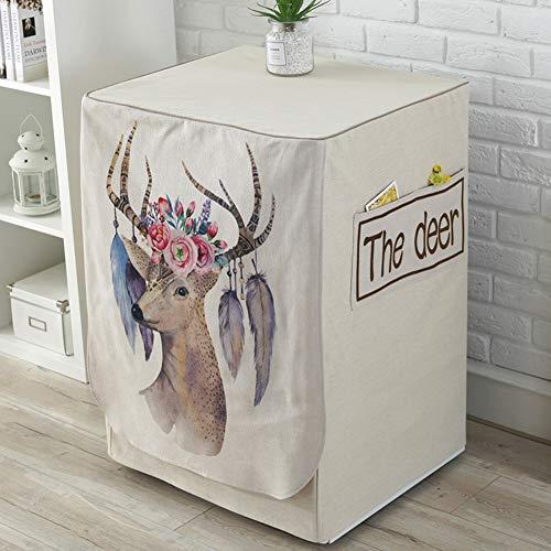 Cover Washer Waterdichte beschermhoes voor de Wasdroger Een Front Loading stofdicht Powder Deer Painted,5,60X60X83Cm