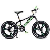 CWCW Bicicleta para Niños Bicicleta De Montaña, 18 Pulgadas, Freno De Disco, Absorción De Impactos, Velocidad única, Adecuada para Deportes Al Aire Libre,Verde