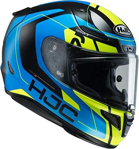 HJC Helmets HJC Helm RPHA 11 CHAKRI MC-24HSF Integralhelm Motorrad + GRATIS VISIER (XXL (62/63)) 13512411, Schwarz Matt/Blau