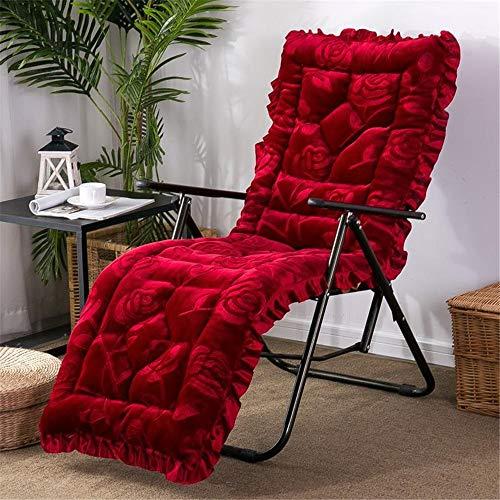 Confortevole Cuscino Confortevole Cuscino Patio Lounger, Outdoor Lounger Cuscini Sedia A Dondolo Cuscino del Divano Coperta Tatami Window Seat Materasso (Color : Red, Size : 160cm)