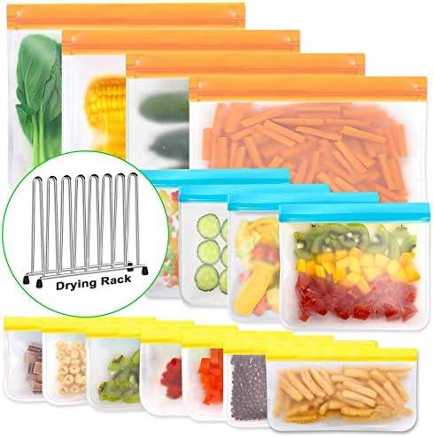Reusable Storage Bags BPA Free PEVA Reusable Freezer Bags Reusable Gallon Bags Reusable Sandwich product image