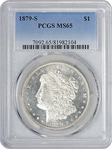 1879-S Morgan Silver Dollar, MS65, PCGS