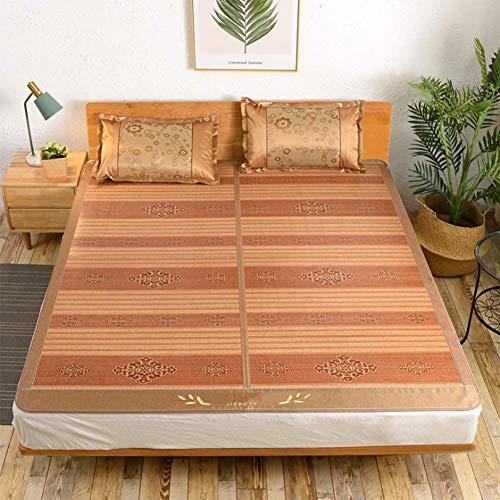 Colchones Colchones de enfriamiento Ropa de cama Colchón de paja Colchoneta para dormir Bambú Ratán Hierba Ropa de cama de doble cara Verano Transpirable Disipación de calor Enfriamiento, 150x195cm